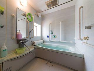 心身ともにリラックスできる入浴は衛生面・精神面双方にプラス、職員との会話も交え、たのしいひと時となるよう努めます。