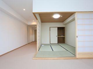 居室 落ち着いた空間の中に畳の和室をご用意しています。押し入れもございますので収納に困らることなく快適に生活していただけます。