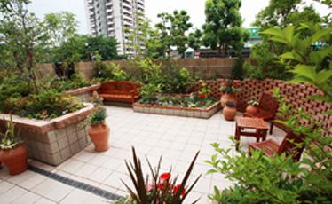 中庭 レストラン/MISORAとつながる中庭は、開放感がいっぱいです。季節の花木を見ながらお食事を楽しんでいただけます。