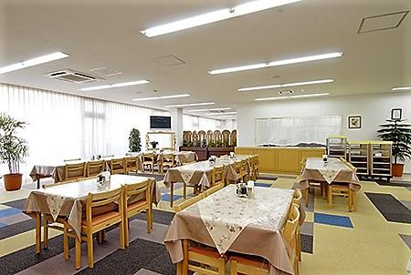 アットホームな食堂。
