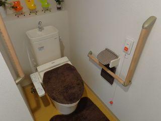 トイレ 広々とした構造で、車椅子でもご利用いただけます。