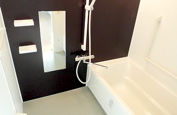 個室浴でゆったりと1人だけの入浴時間を確保していただけます。
