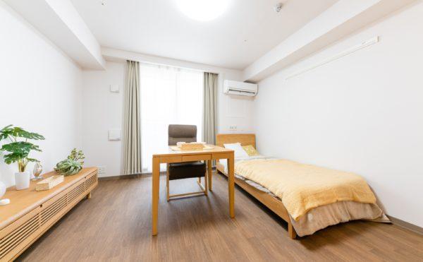 お部屋にはご入居者様が使いやすい家具や家電を持ち込んでいただき、居心地のいい空間にしてください。バリアフリーのお部屋になります。